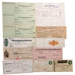 NV - Pioche,Lincoln County - 1870-1907 - Pioche Group and Wells Fargo Rare Imprint Bank Check