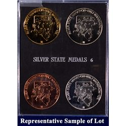 NV - Reno,Washoe County - 1993-2001 - Silver State Half-Marathon 10K Race Medals (#2, #6 and #8)