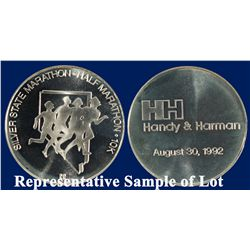 NV - Reno,Washoe County - 1994-1996 - Silver State Marathon First, Second & Third Medals