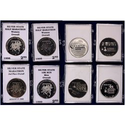 NV - Reno,Washoe County - 1995-2000 - Silver State Marathon Overall Second Place Medals