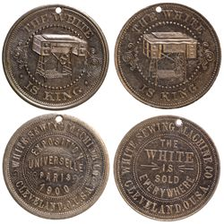 OH - Cleveland,Cuyahoga County - 1900 - White Sewing Machine Co. Tokens