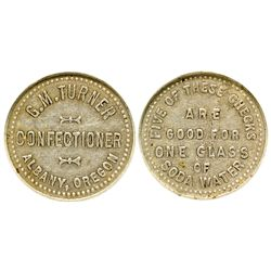 OR - Albany,Linn County - c1910 - M.G. Turner Confectioner Token