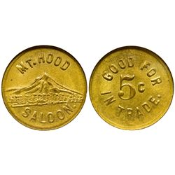 OR - The Dalles,Wasco County - c1910-1915 - Mt. Hood Saloon Token
