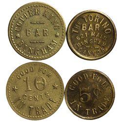 UT - Bingham,Salt Lake County - Copper King Bar / Torino Bar Tokens