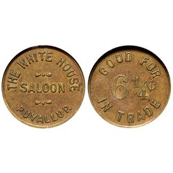 WA - Puyallup,Pierce County - c1908 - White House Saloon Token