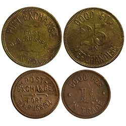 WY - Fort D.A. Russell,Laramie County - c1861-1930 - Post Exchange Tokens