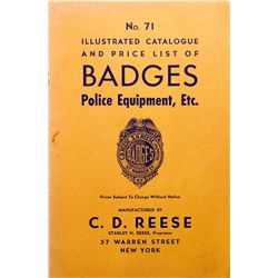 Badges, Police Equip. Catalog