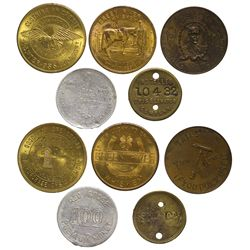 c1910-1915 - Equipment and Services Tokens