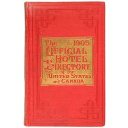 1905 - Hotel Directory of the United States