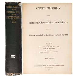 1908 - Street Directory (United States Postal Service) Street Directory (United States)
