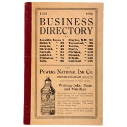 1925 to 1926 - Texas/New Mexico Directories