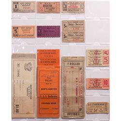 1899 - US Navy Ships' Service Tickets