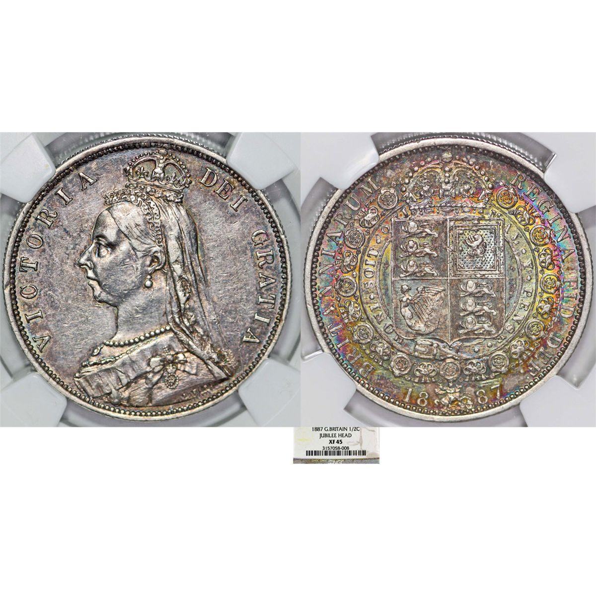 Great Britain  Queen Victoria (1837-1901) AR Jubilee Half Crown
