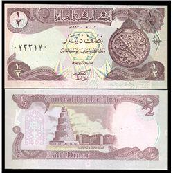1993 Iraq 1/2 Dinar Crisp Uncirculated Note (CUR-05911)