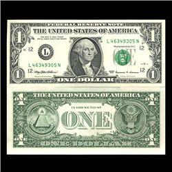 1999 $1 San Fran FRB Note Sequence Pair Crisp Unc (CUR-06030)
