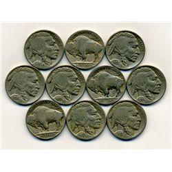 10 US Buffalo Nickel Coin Lot (COI-222C)
