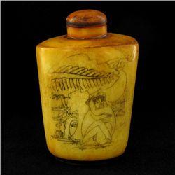 Kamasutra Chinese Bone Snuff Bottle (CLB-951)