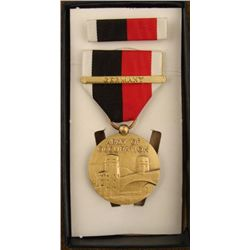 "BOXED WWII U.S. ""ARMY OF OCCUPATION"" MEDAL & RIBBON"
