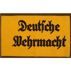 "NAZI ""DEUTSCHE WEHRMACHT ORIG ARMBAND FOR ARMY WORKERS"
