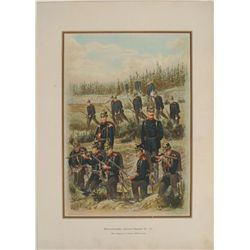 1899 GERMAN PRINT-125TH REGIMENT OF INFANTRY-WURTEMBERG