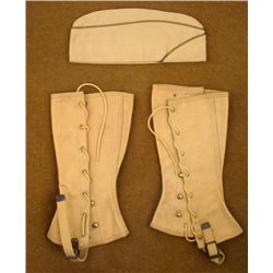 WWII U.S. ORIGINAL CANVAS LEGGINGS AND OFFICERS CAO