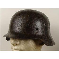 WWII NAZI M42 COMBAT HELMET REMAINS FRM KOURLAND POCKET
