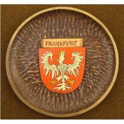 VINTAGE WOOD PLATE FRANKFURT GERMANY