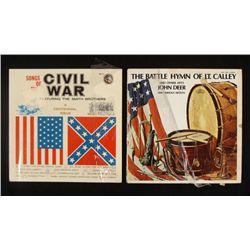 2 LP'S SONGS THE CIVIL WAR & BATTLE HYMN OF LT CALLEY