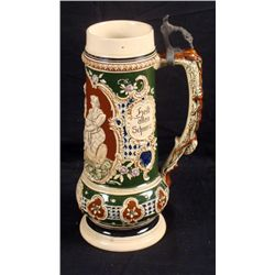 LARGE TWO LITER GERMAN STEIN HUNTER WITH WOMEN