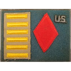 WWII 5TH DIVISION U.S. ARMY GROUPING -DIVISION PATCH +6