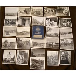 1943 U.S. GI'S PHRASE BOOK FOR FRANCE AND 25 PHOTOS