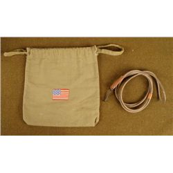 WWII AMERICAN RED CROSS DITTY BAG WITH HICKOK LANYARD