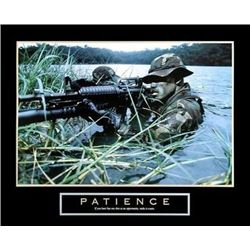 Patience Military Man U.S. Soldier Poster Print
