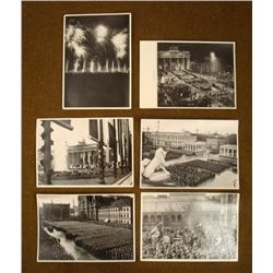 6 ORIGINAL NAZI RALLY PHOTOS HITLERS CIGARETTE ALBUM