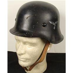 WWII European Helmet w/ Nazi German Insignia