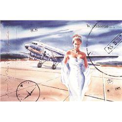 Jack Leroy Le Marriage DC-3 Aviation Art Print