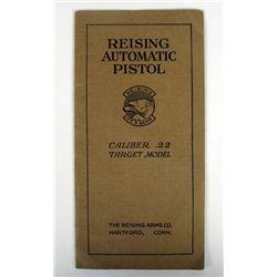 VINTAGE REISING AUTO PISTOL BOOKLET FOR .22 CALIBER