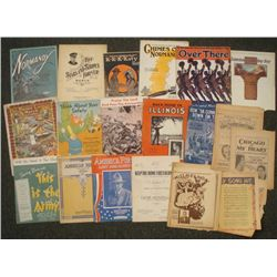 18 WWI SHEET MUSIC COPIES-SOUSA STARS & STRIPES FOREVER