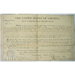 FY391 GENERAL LAND OFFICE GRANT WITH 2 ANDREW JOHNSON N