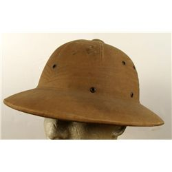 WWII ORIGINAL MARINE PACIFIC THEATRE PITH HELMET