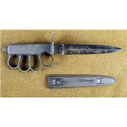 """RARE 100% ORIGINAL WWI 1918 LF&C """"KNUCKLE DUSTER"""" KNIFE"""