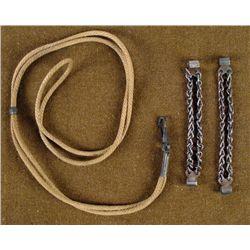 WWI U.S. NECK LANYARD W/CLIP + 2 CHAIN CONNECTORS