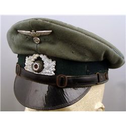 West German Cap with Repro WWII Nazi Insignia