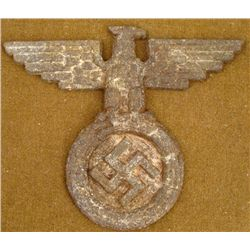 WWII Nazi Eagle Swastika Official Emblem from Building