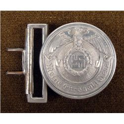 NAZI SS OFFICER'S BELT BUCKLE REPRODUCTION