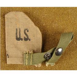 WWII 1944 SMALL CANVAS POUCH FOR WEB BELT VICTORY MFG