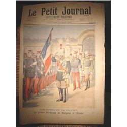 Authentic original antique French newspaper dated 1896