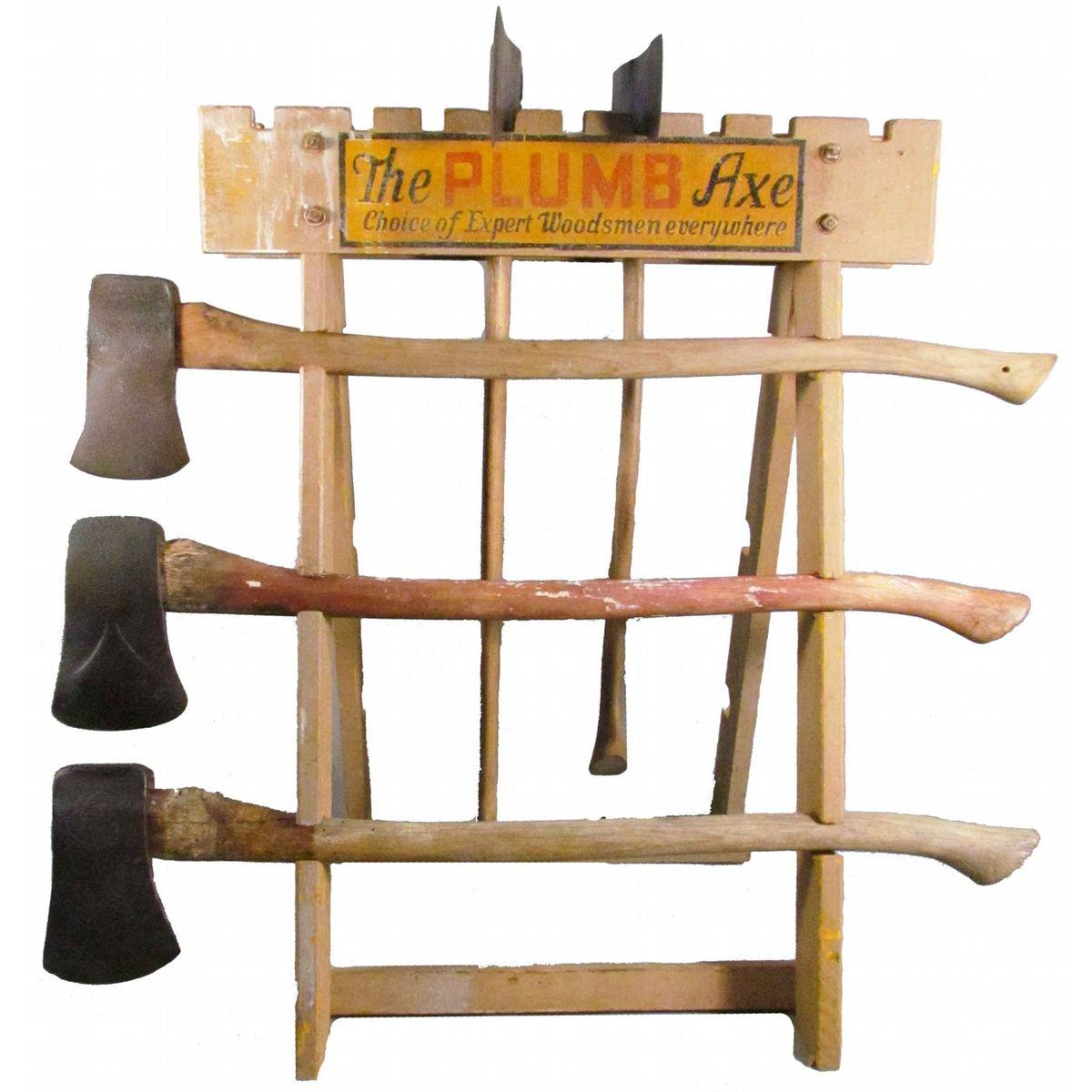 The Plumb Axe Wood Store Display