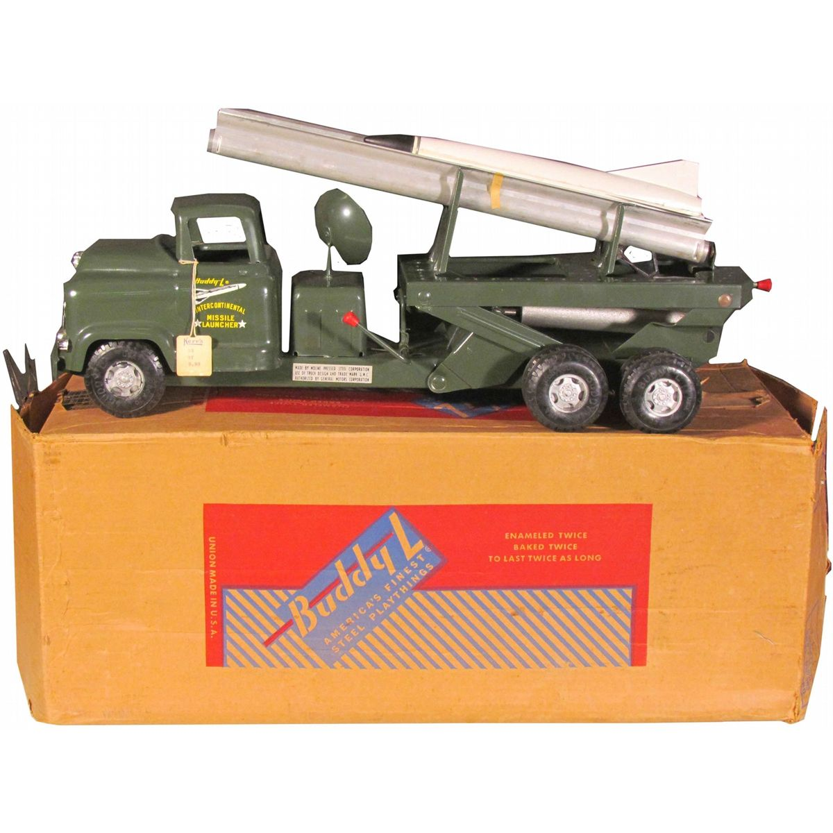 Vintage toy rocket launcher