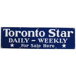 Toronto Star Daily-Weekly Heavy Porcelain Sign